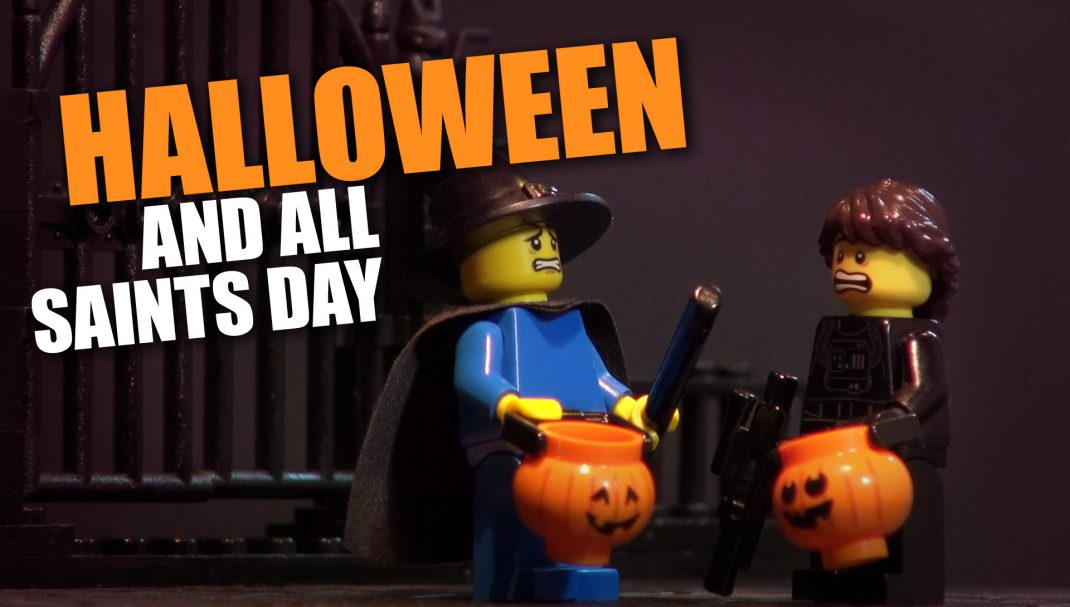 halloween and all saints day explained with lego